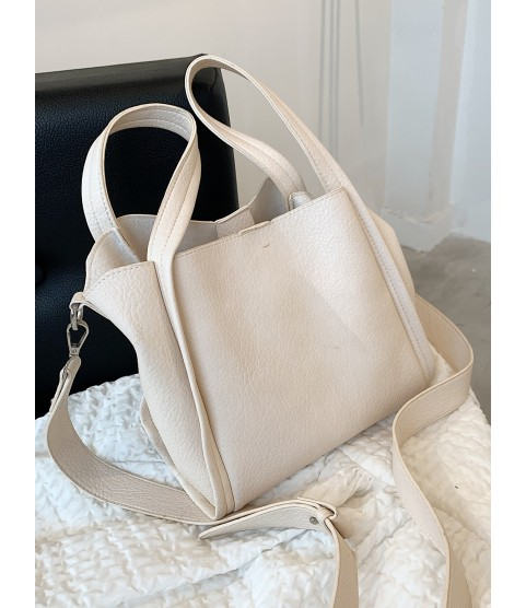 Minimalist Shoulder Tote Bag With Inner Pouch