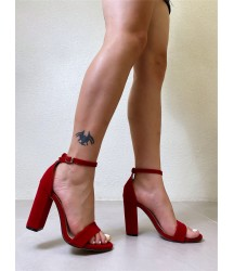 Two Part Chunky Heeled Sandals