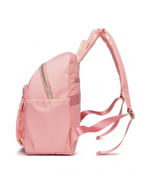 Minimalist Pom-pom Decor Quilted Pattern Classic Backpack